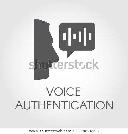 Voice authentication flat vector icon Stock photo © barsrsind