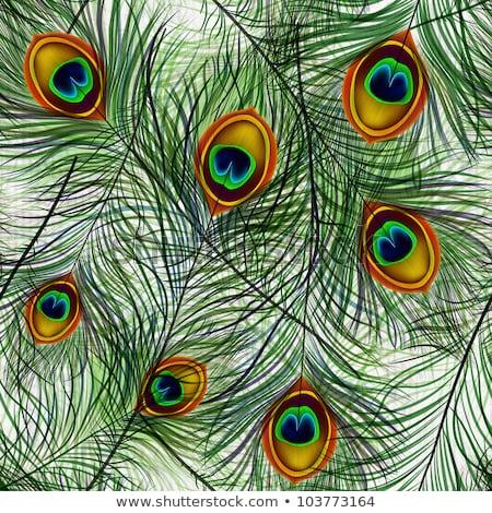 Groene gestileerde bladeren kleur naadloos vector Stockfoto © barsrsind