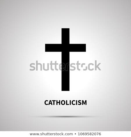 Religion simple noir icône ombre design Photo stock © evgeny89