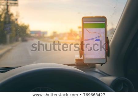 GPS utazás autó térkép táblagép számítógép Stock fotó © AndreyPopov