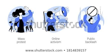 Społecznej ruchu wektora metafory kobiet gej Zdjęcia stock © RAStudio