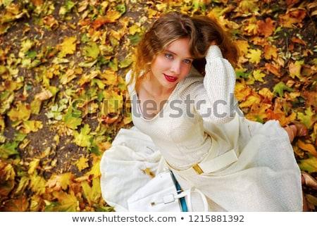 Biały suknia ślubna widoku poniżej pokój drzwi Zdjęcia stock © ruslanshramko
