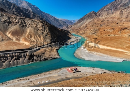 Fiumi himalaya valle montagna montagna scenario Foto d'archivio © dmitry_rukhlenko