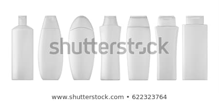 Stockfoto: Shampoo · fles · witte · achtergronden · lichaam · ontwerp · schoonheid