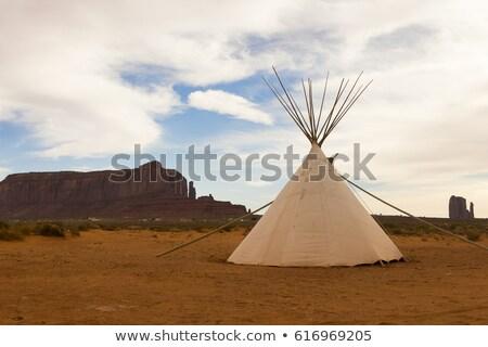 Tipi and Red Rocks Stock photo © alexeys