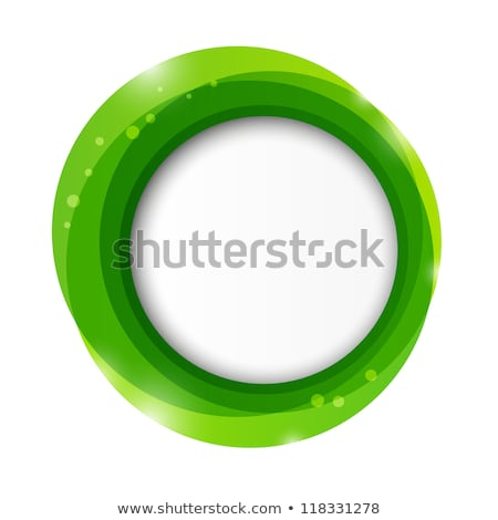 Abstract round green vector frame on light background Stock photo © wenani