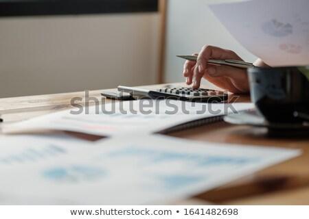 Könyvelő készít nő iroda munka munkás Stock fotó © photography33
