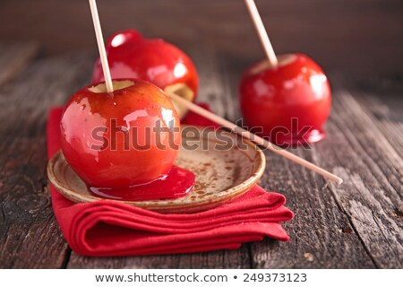 maçã · caramelo · isolado · branco · fresco · doce - foto stock © m-studio
