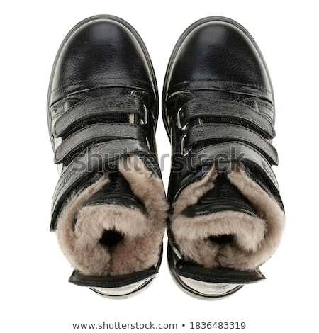 crianças · couro · sapatos · moda · projeto - foto stock © pzaxe