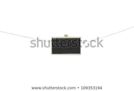 Een klein schoolbord waslijn geïsoleerd witte Stockfoto © 808isgreat