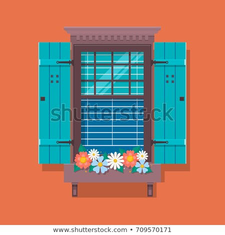 комнату бабочка за пределами окна художественный красный Сток-фото © Sylverarts