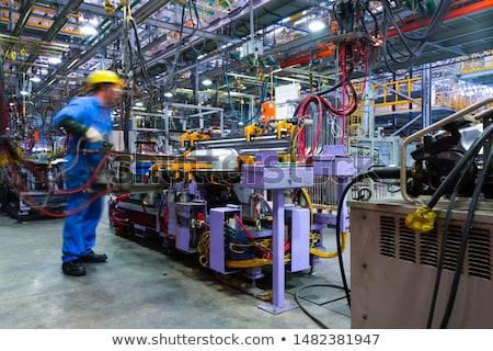 Soldador fábrica piso metal compras Foto stock © lisafx