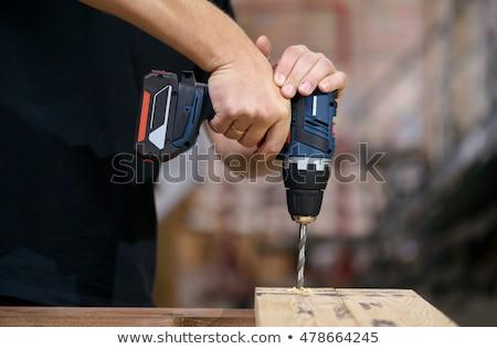 コードレス ドリル 手 ビット バッテリー 電源 ストックフォト © cmcderm1
