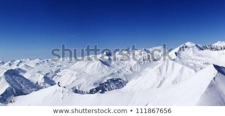 panorâmico · ver · montanhas · bom · dia · cáucaso - foto stock © bsani