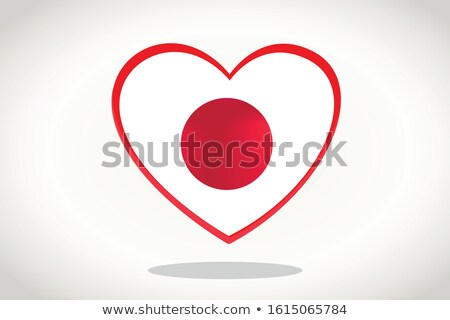 flag of japan in ballon shape Stock photo © experimental