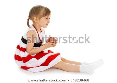 benen · lang · vrouwelijke · gestreept · sokken · geïsoleerd - stockfoto © ruslanomega