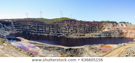 open cast mine on extraction of iron ore by open way stock photo © andriy-solovyov