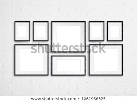 Frames collectie vier vierkante goud groene Stockfoto © ankarb