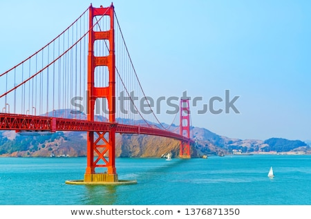 golden gate bridge sail boats san francisco california stock photo © billperry