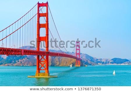 Golden Gate Bridge Sail Boats San Francisco California Stock photo © billperry