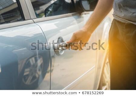 Araba kapı anahtar deliği Metal güvenlik bağbozumu Stok fotoğraf © mtkang
