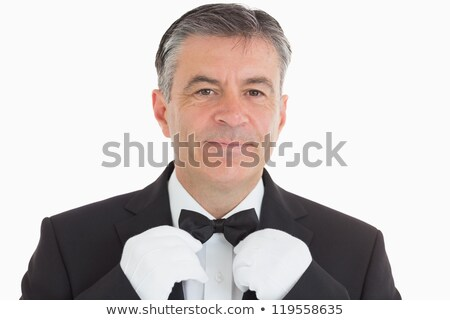 Man standing in shirt and dickey bow Stock photo © wavebreak_media