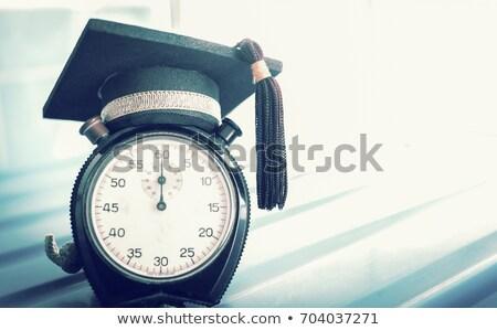 卒業 カウントダウン キャップ 先頭 時間ガラス 時間 ストックフォト © Lightsource
