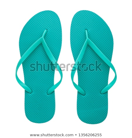 Two pair of flip-flops isolated on white background Stock photo © moses