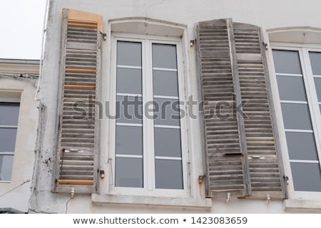New painted and old shutters Stock photo © Elenarts