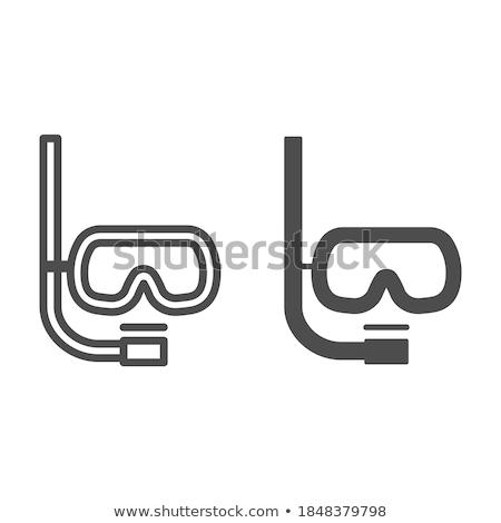 masker · snorkel · witte · strand · water · Blauw - stockfoto © mastergarry