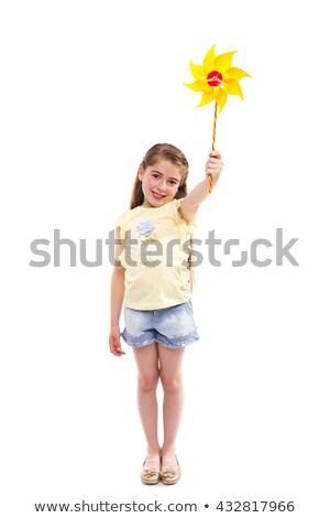 Portrait of Girl holding Pinwheel Stock photo © zzve