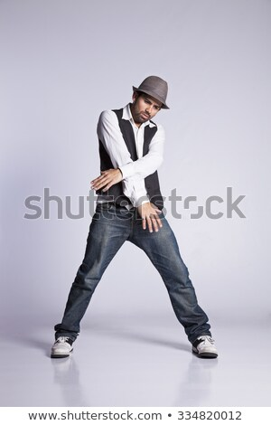 Young modern dancer showing some movements Stock photo © stepstock