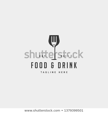Logo for food and drink Stock photo © shawlinmohd