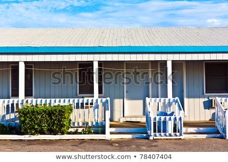 モーテル 銀行 米国 建物 木材 ストックフォト © meinzahn