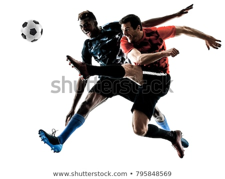 Soccer Background with two Players Stock photo © WaD