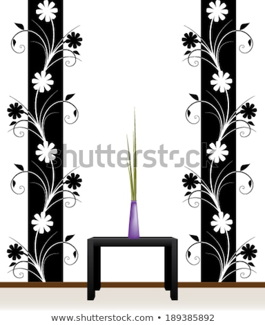 Black and white wall decal Stock photo © kgaspar