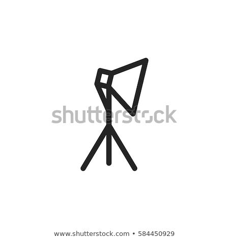 Icon licht studio kamer contour lege Stockfoto © IMaster