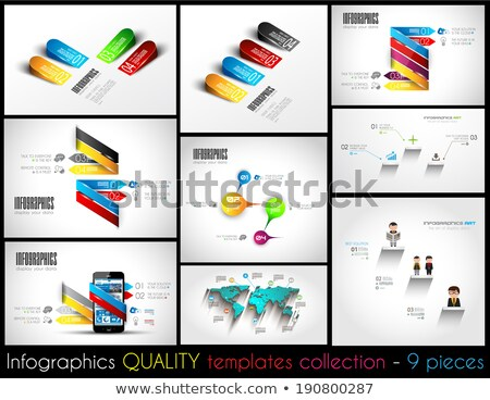 collection of 9 quality infographic templates stock photo © davidarts