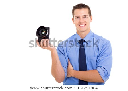 handsome guy with a digital camera stock photo © nejron