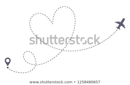 silhouet · liefhebbers · zoenen · foto · jonge · vrouw · man - stockfoto © adrenalina