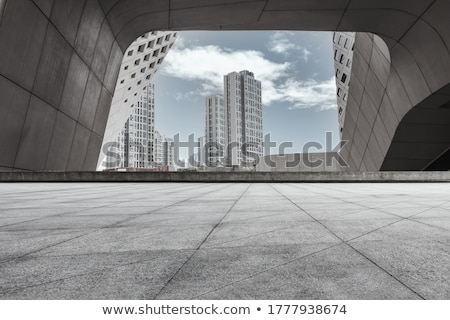 cityscape - road and apartment Stock photo © elwynn