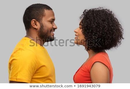 güzellik · sarışın · kadın · erkekler · sevmek · grup · genç - stok fotoğraf © feedough