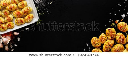 gebakken · aardappel · hot · gekruld · spek · geraspte · kaas - stockfoto © m-studio