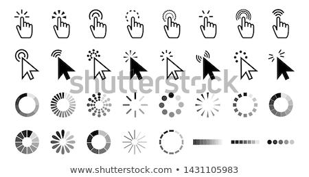 kliknij · tutaj · żółty · wektora · ikona · projektu · internetowych - zdjęcia stock © nickylarson974