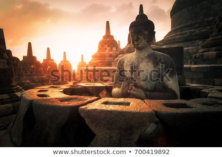 Tempio Indonesia principale tramonto sfondo Foto d'archivio © dinozzaver