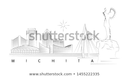 wichita skyline stock photo © benkrut