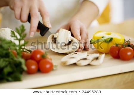 Vrouwelijke voedsel ingrediënten keuken gezondheid Stockfoto © fantazista