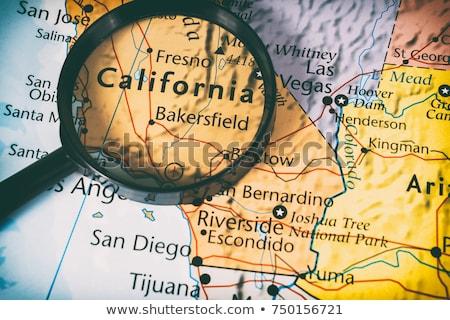Californië kaart pin amerikaanse fiche geïsoleerd Stockfoto © speedfighter