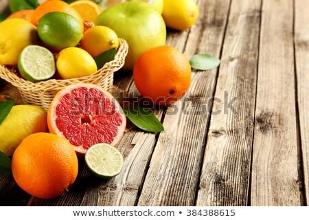 świeże dojrzały słodkie pomarańczy rustykalny brązowy Zdjęcia stock © stevanovicigor