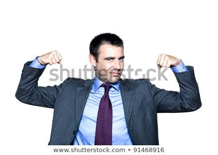 Glimlachend elegante zakenman spieren witte gelukkig Stockfoto © wavebreak_media